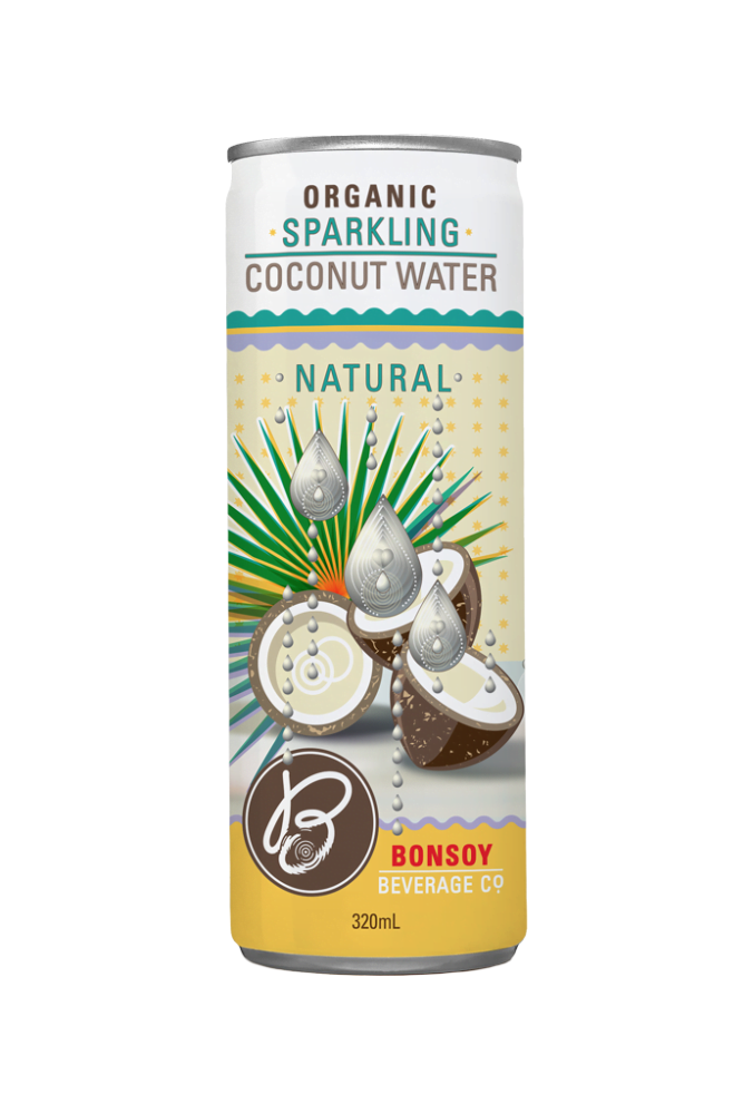Bonsoy Products – Sparkling Coconut Water Natural