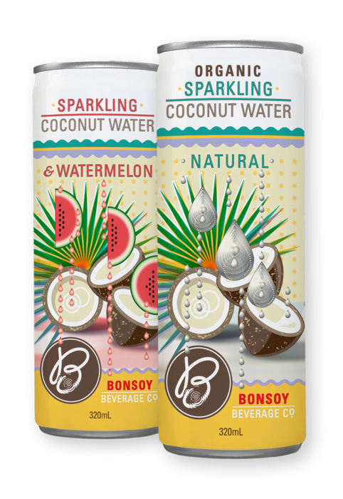 Bonsoy Products - Sparkling Coconut Water